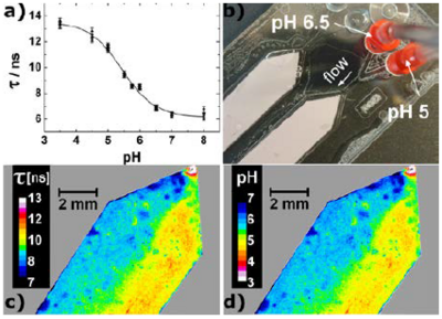 FLIM imaging of pH with the planar optode based on PhOHCl2-DAOTA in D4