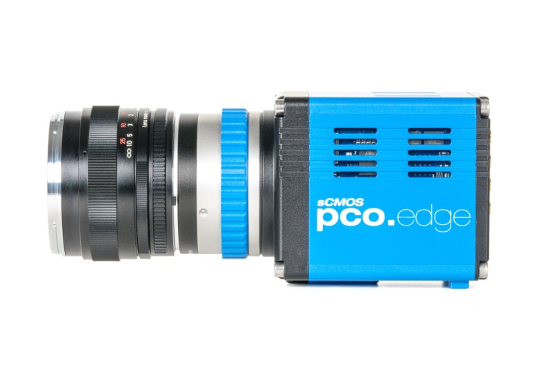 pco.edge 5.5 USB 3.0 sCMOS camera side view