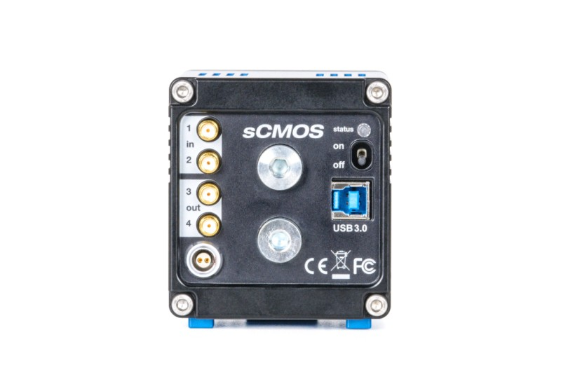 pco.edge 5.5 USB 3.0 sCMOS camera rear view