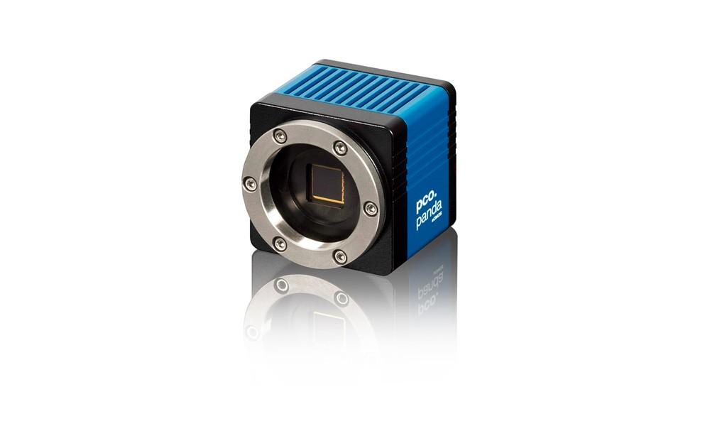 pco.panda front left image blue camera USB sCMOS